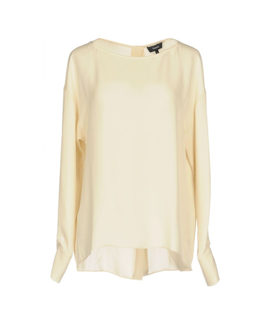Image for Theory Beige Silk Blouse