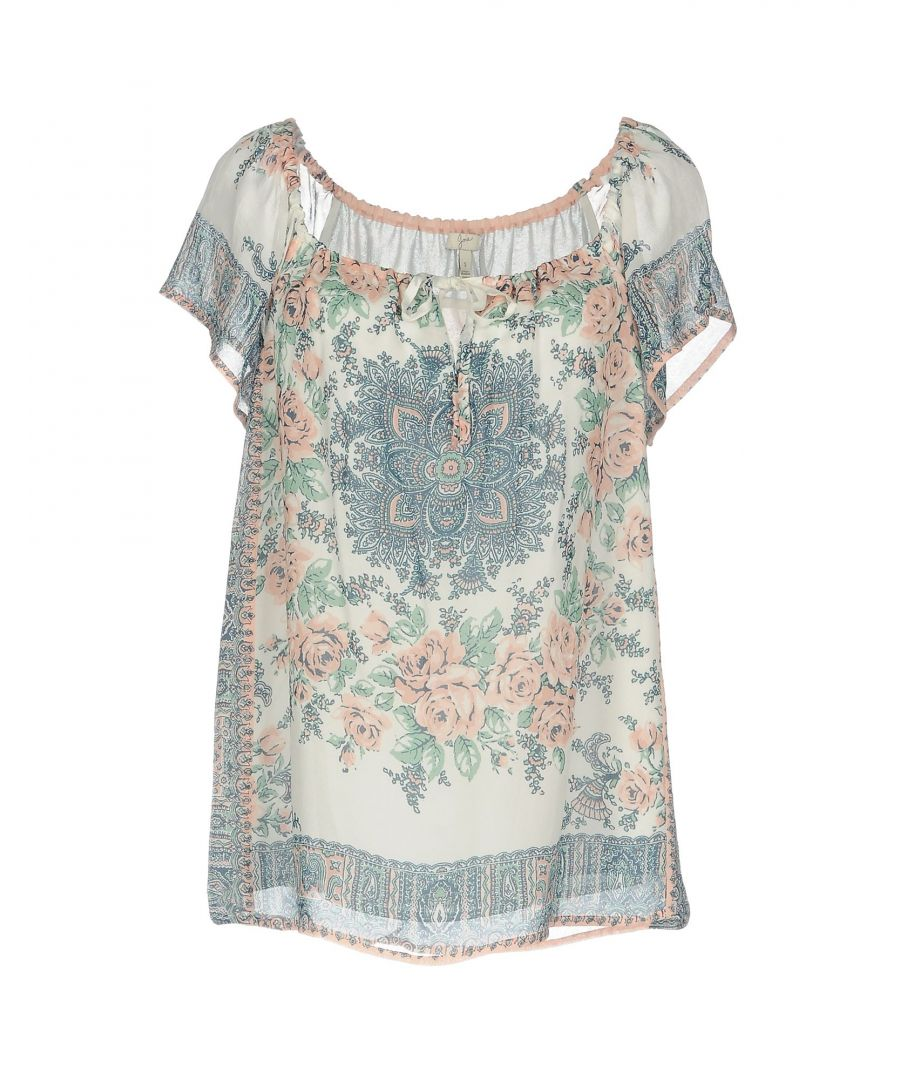 Image for Joie Ivory Floral Design Blouse