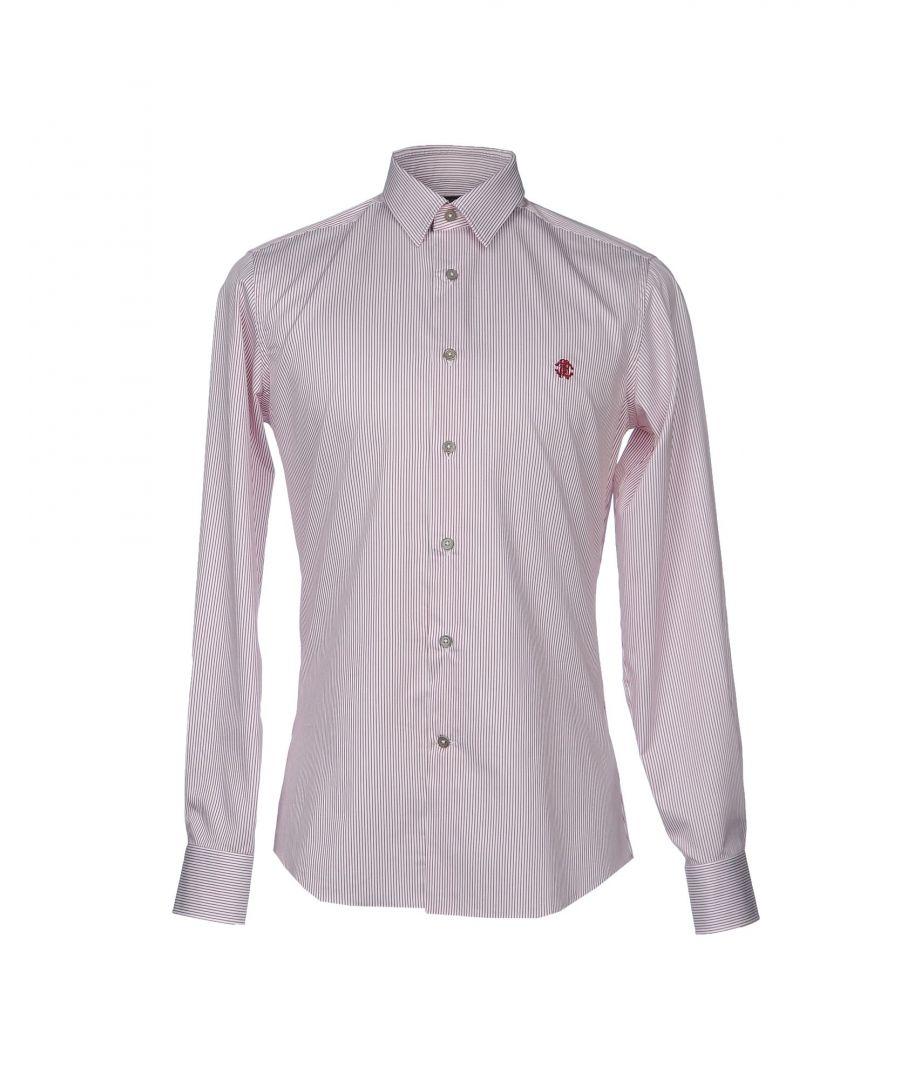 Image for Roberto Cavalli Deep Purple Stripe Cotton Shirt