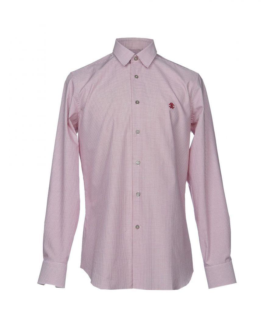 Image for Roberto Cavalli Maroon Check Cotton Shirt