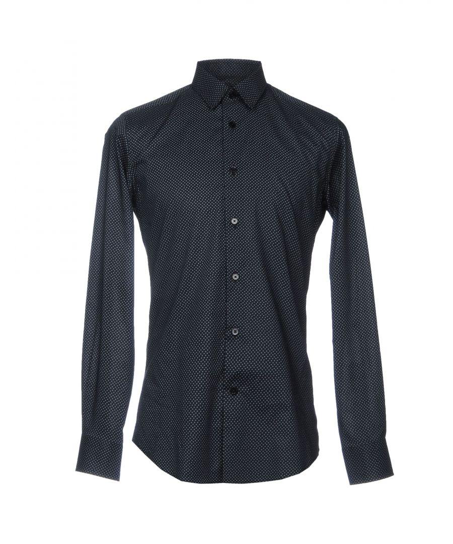 Image for Roberto Cavalli Dark Blue Cotton Shirt