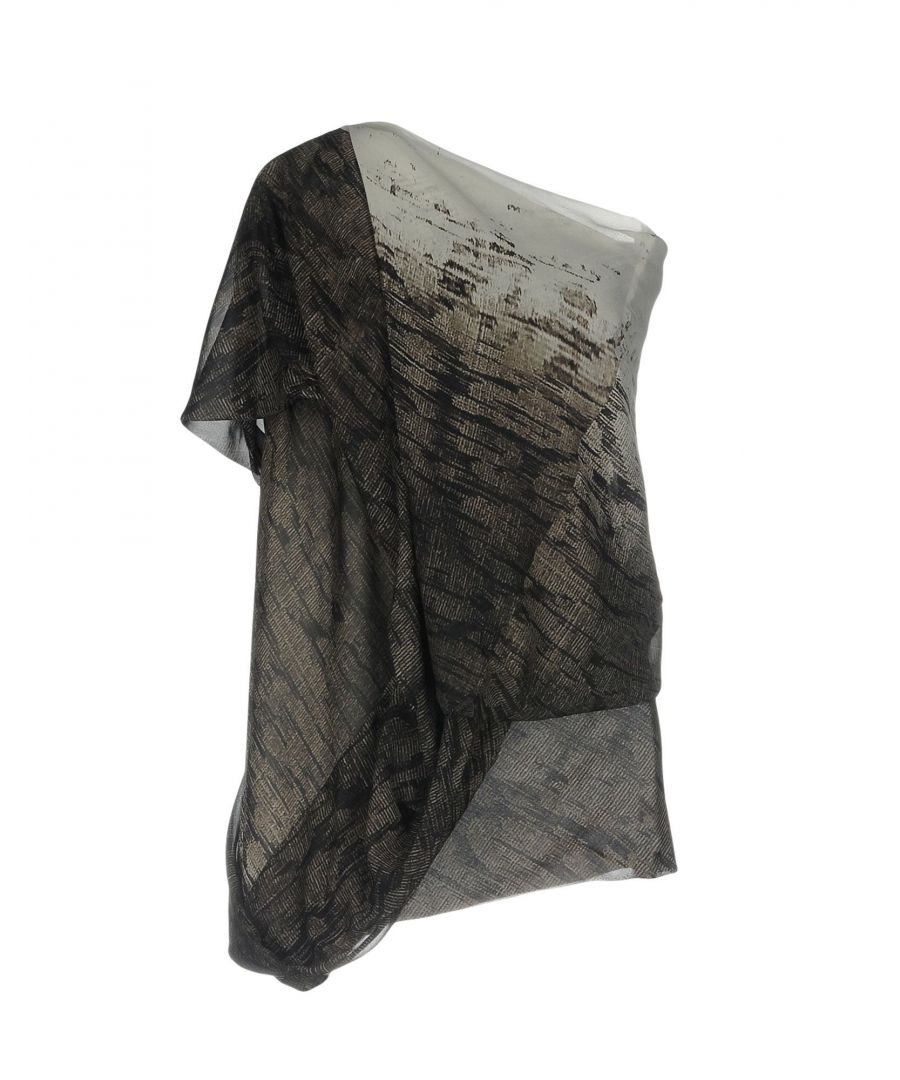 Image for Rick Owens Grey Silk Bluse