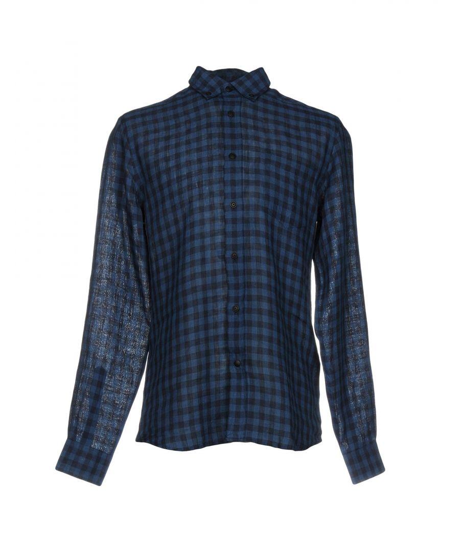 Image for Belstaff Blue Check Linen Shirt