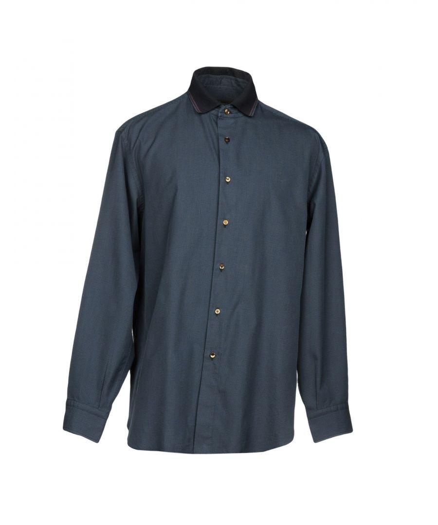 Image for Brioni Blue Cotton Shirt