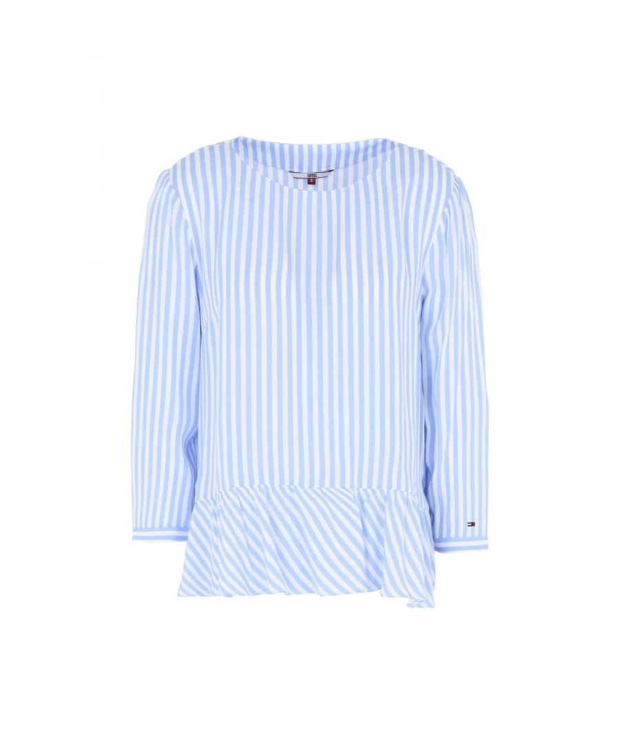 Image for Tommy Jeans Sky Blue Stripe Blouse