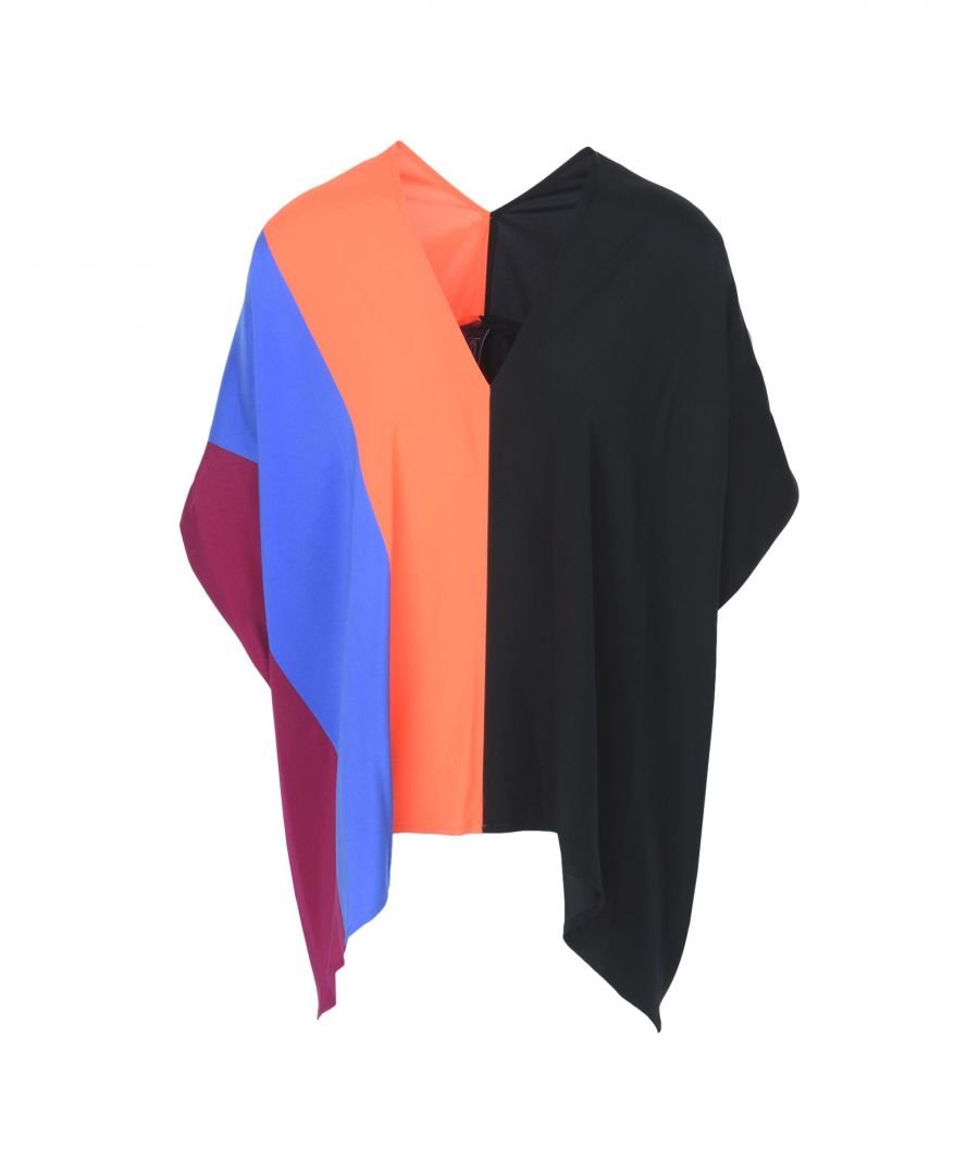 Image for Zero + Maria Cornejo Black Colourblock Silk Top