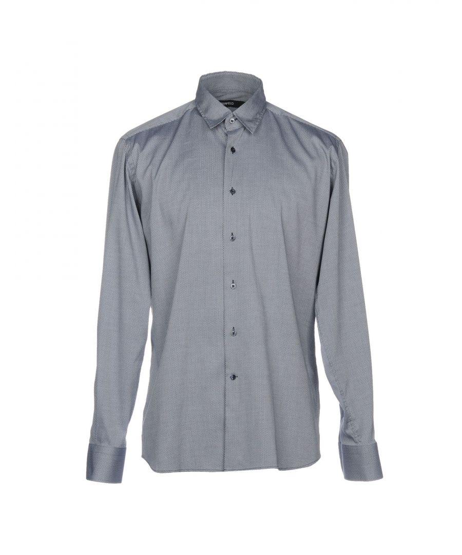 Image for SHIRTS Karl Lagerfeld Light grey Man Cotton