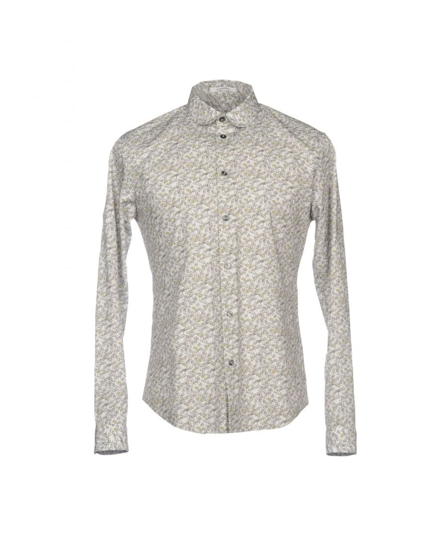 Image for Carven Light Grey Floral Print Cotton Shirt