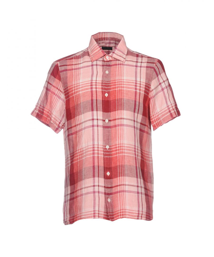 Image for Zzegna Red Plaid Short Sleeve Shirt