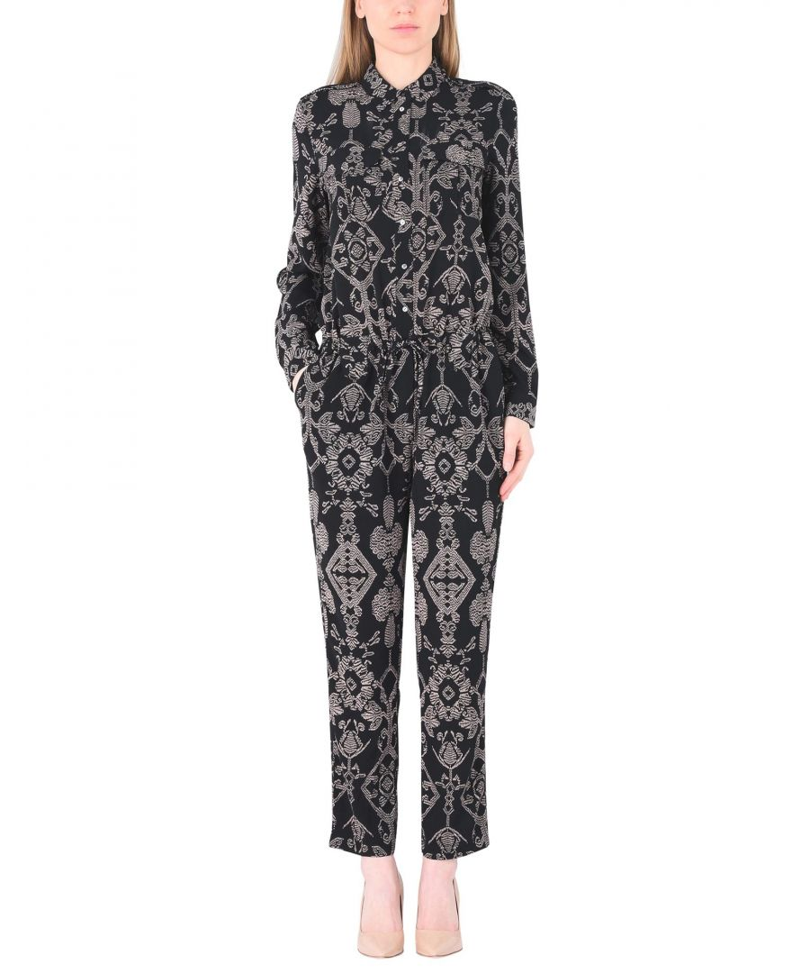 Image for Maison Scotch Black Print Jumpsuit