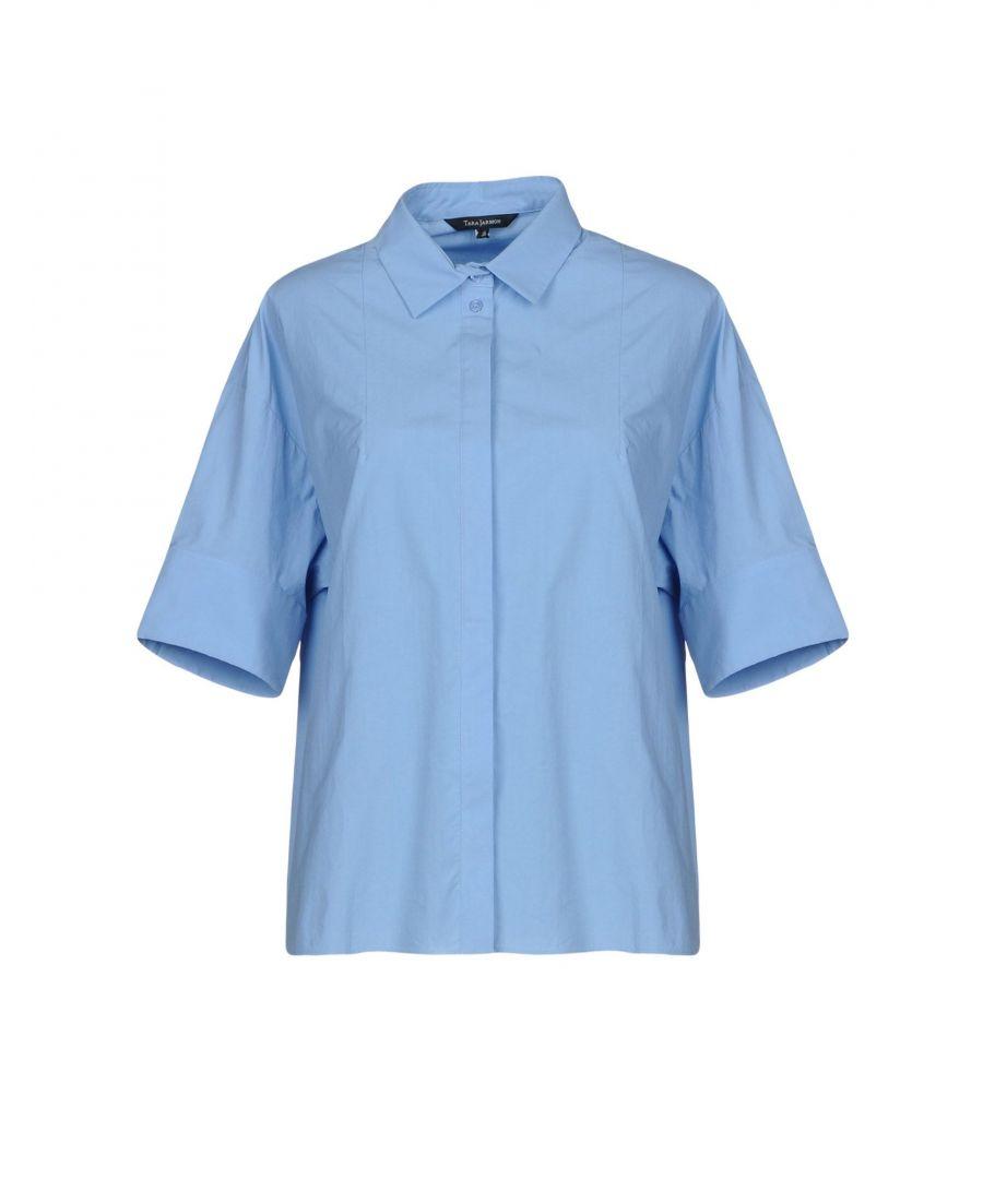 Image for SHIRTS Tara Jarmon Sky blue Woman Cotton