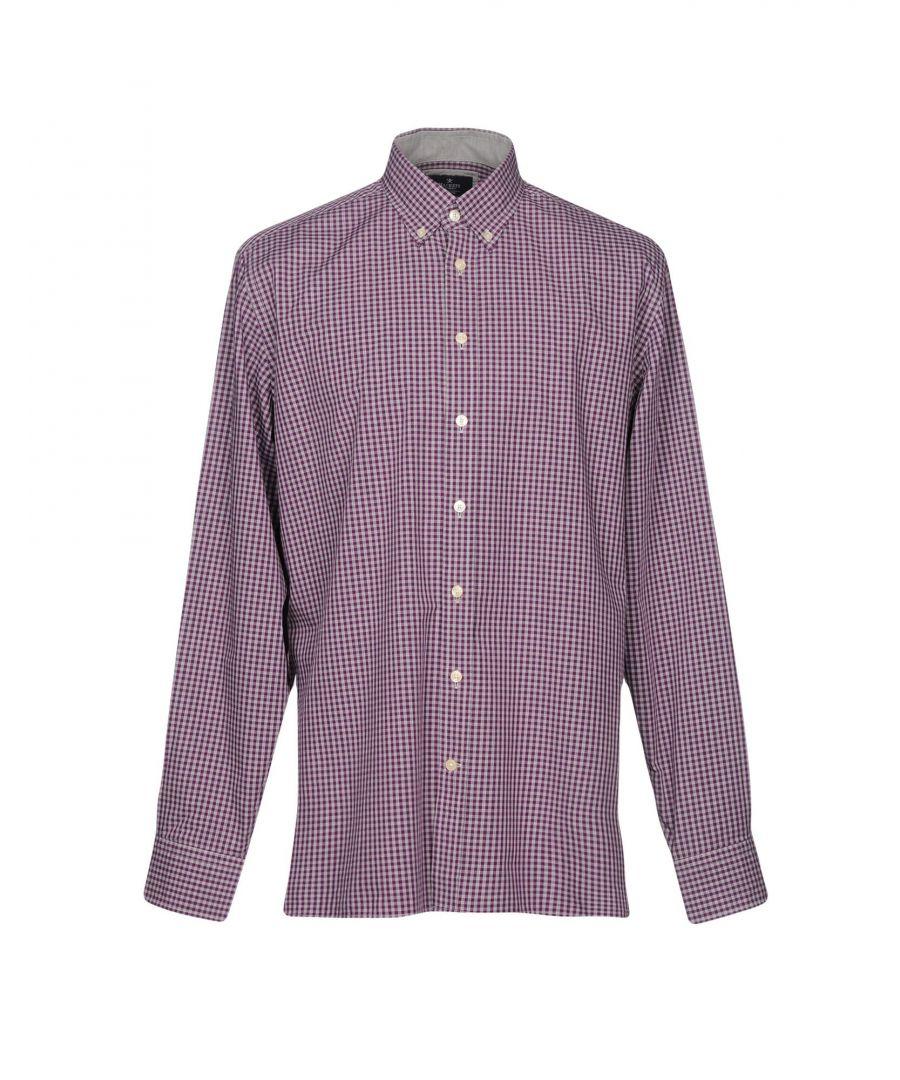 Image for Hackett London Mauve Check Cotton Shirt