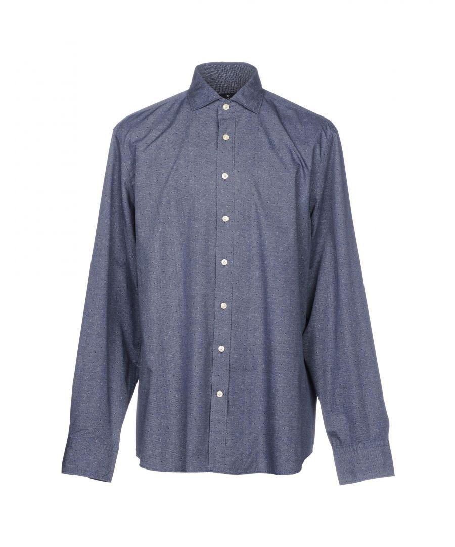 Image for Hackett London Dark Blue Cotton Shirt
