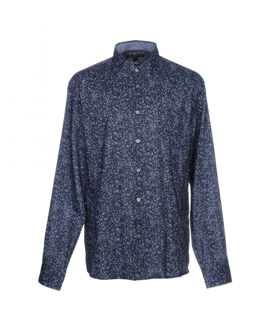 Image for John Varvatos U.S.A. Dark Blue Print Cotton Shirt