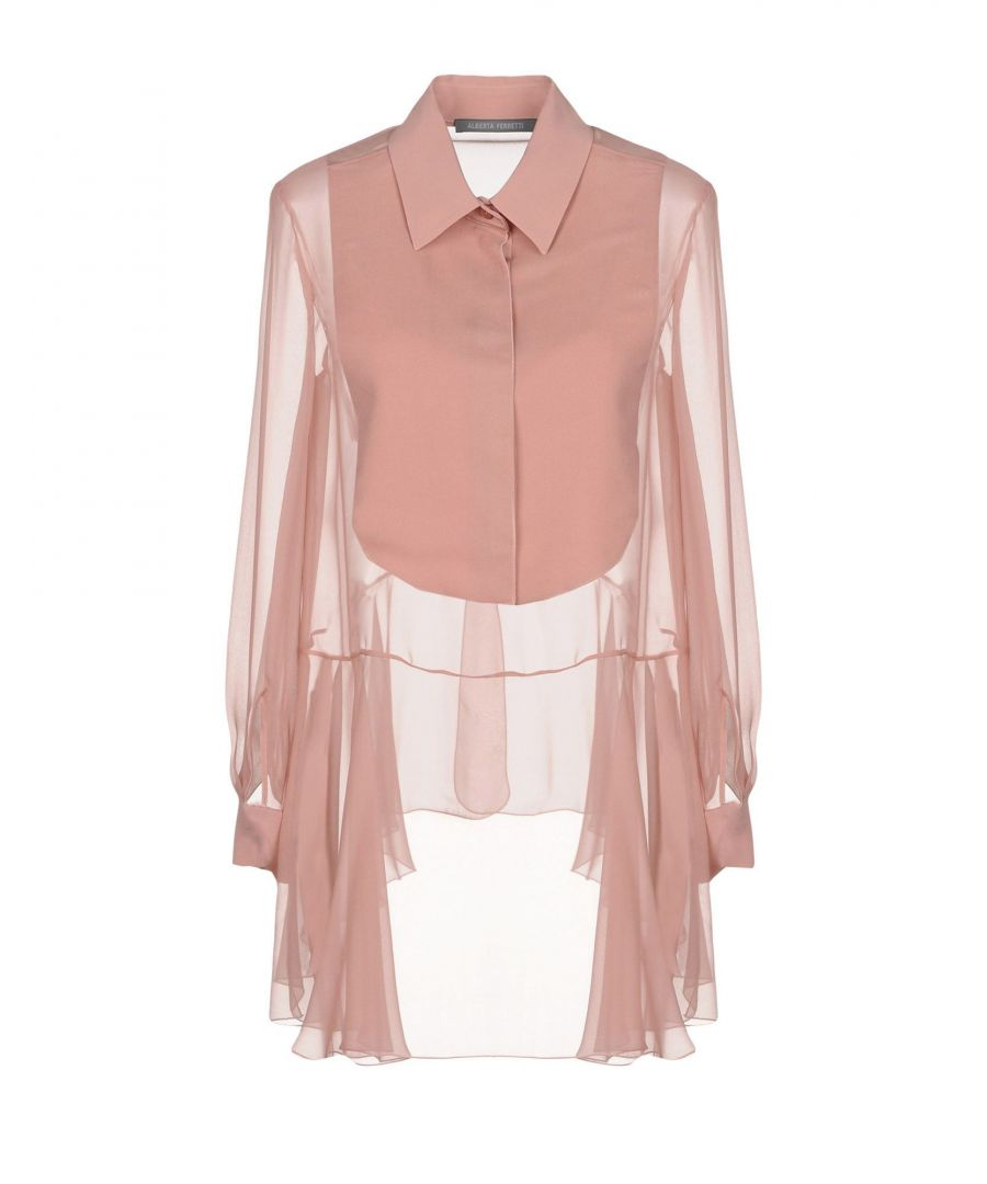 Image for Alberta Ferretti Pastel Pink Silk Blouse