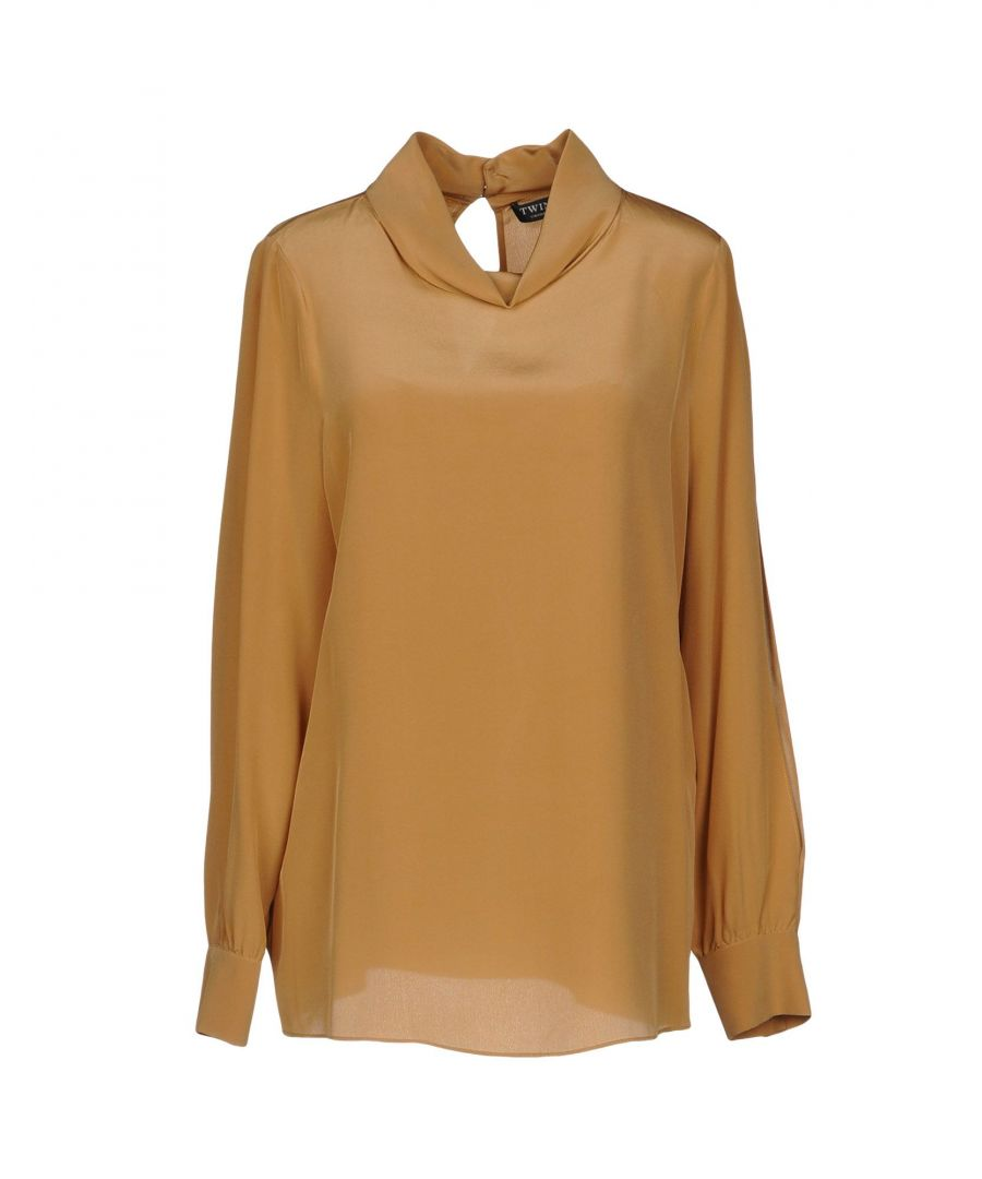 Image for Twinset Camel Silk Blouse