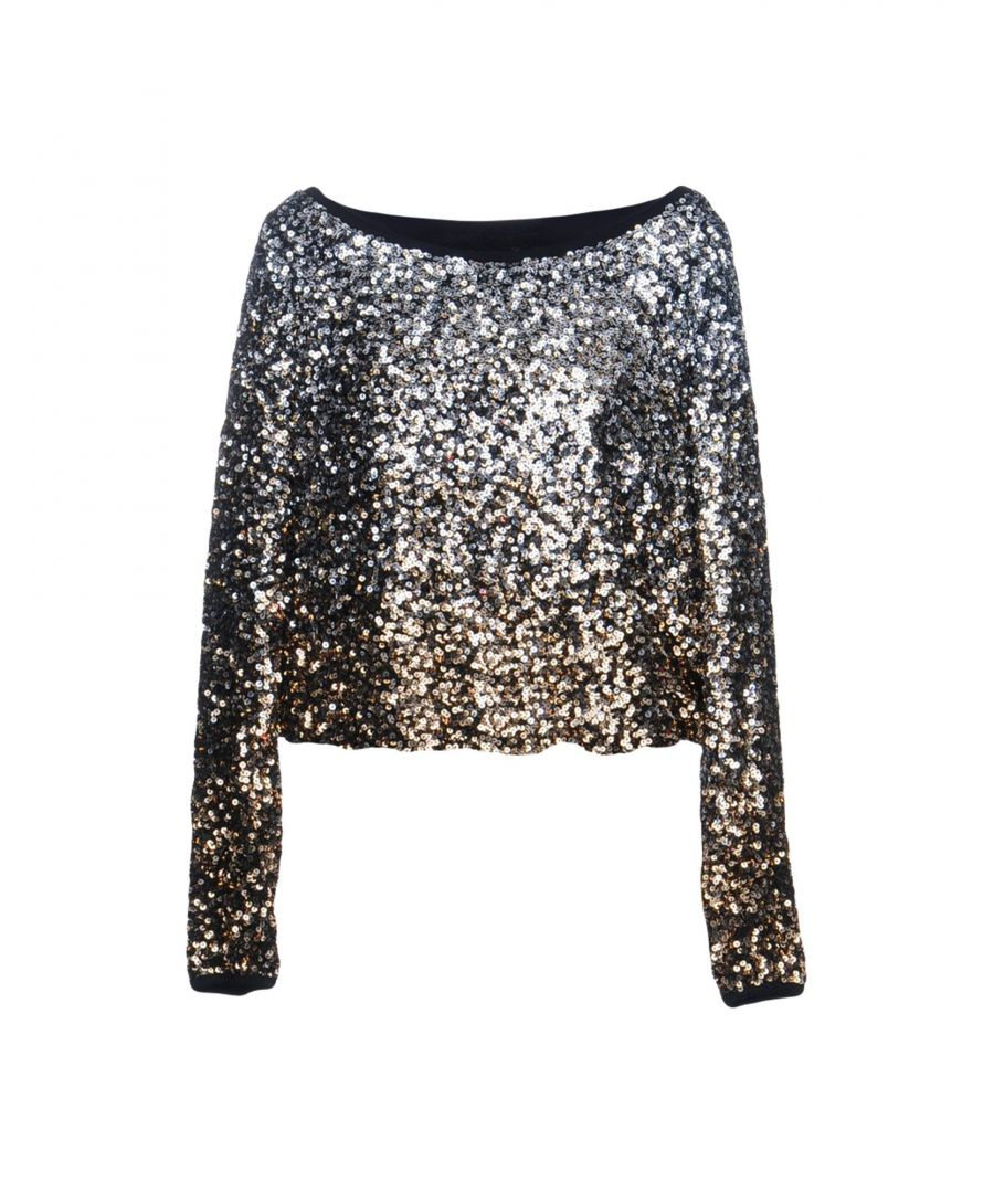 Image for Twinset Silver Sequin Long Sleeve Blouse