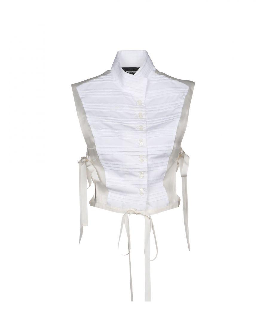 Image for Dsquared2 White Cotton Sleeveless Shirt