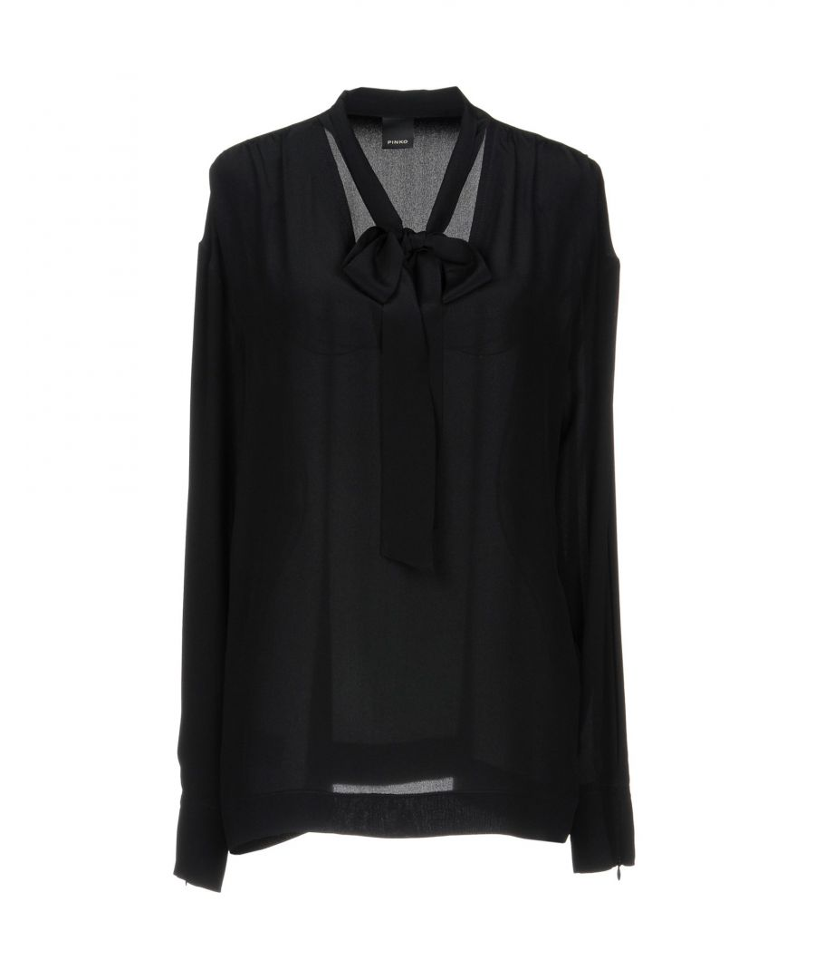 Image for Pinko Black Silk Blouse