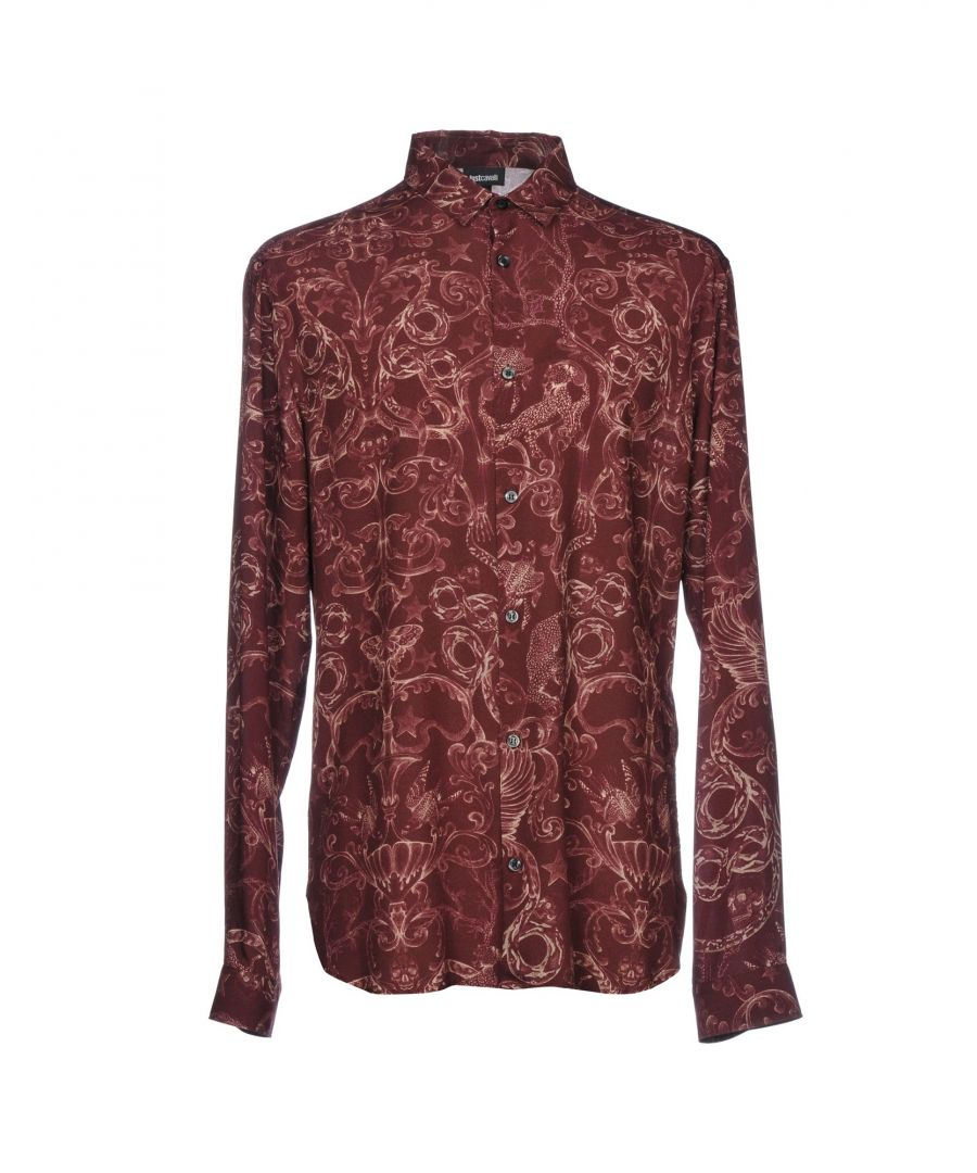 Image for Just Cavalli Maroon Print Shirt