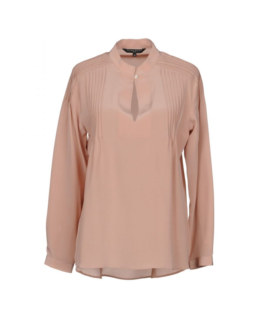Image for Brian Dales Pale Pink Silk Blouse