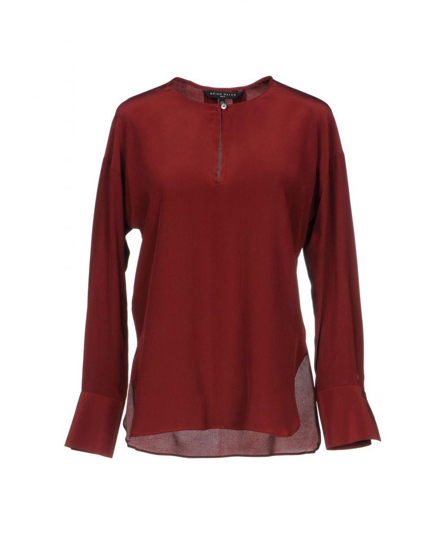 Image for Brian Dales Brick Red Silk Shirt