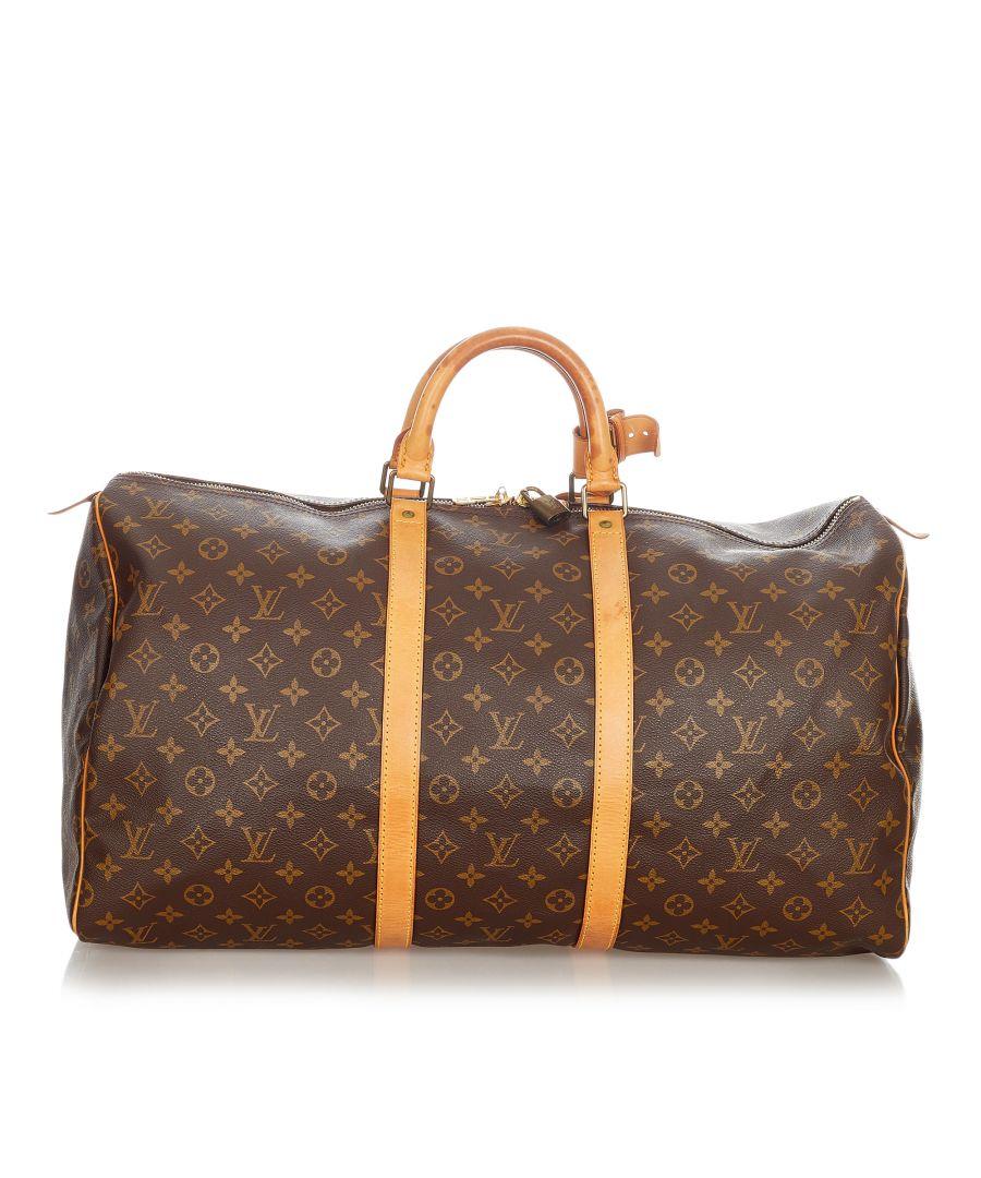 Image for Vintage Louis Vuitton Monogram Keepall 55 Brown
