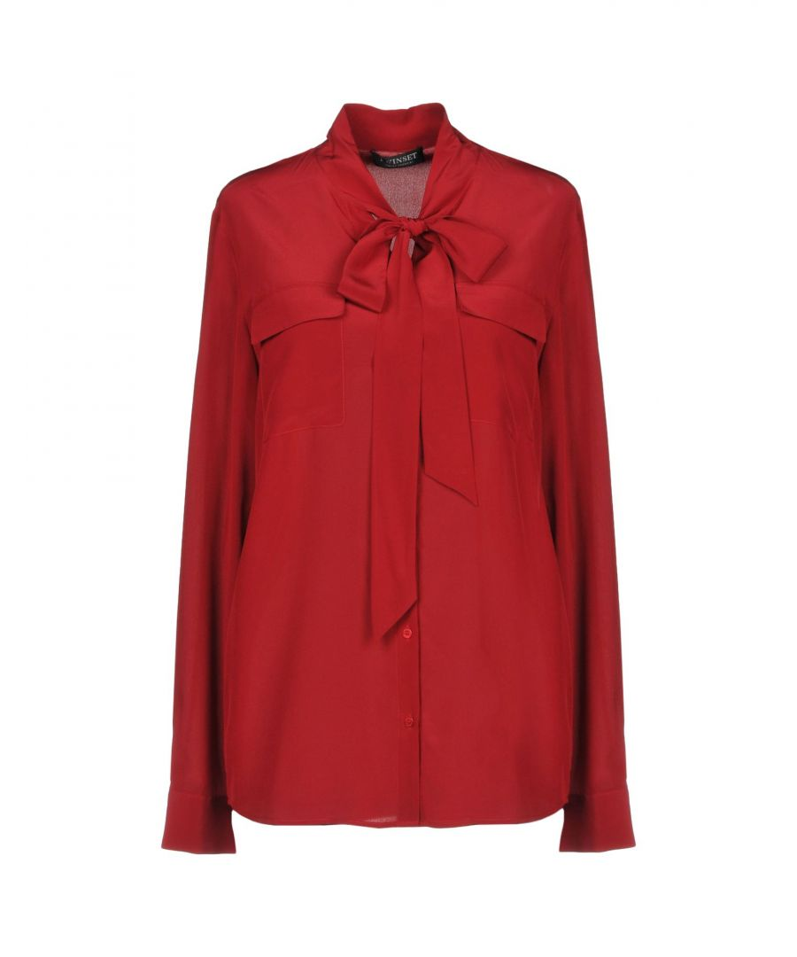 Image for Twinset Maroon Silk Blouse
