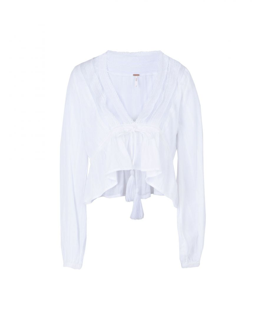 Image for Free People White Cotton Blouse