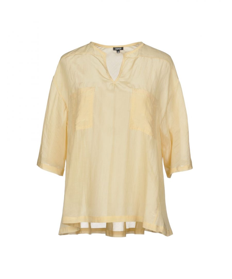 Image for Aspesi Sand Cotton Blouse