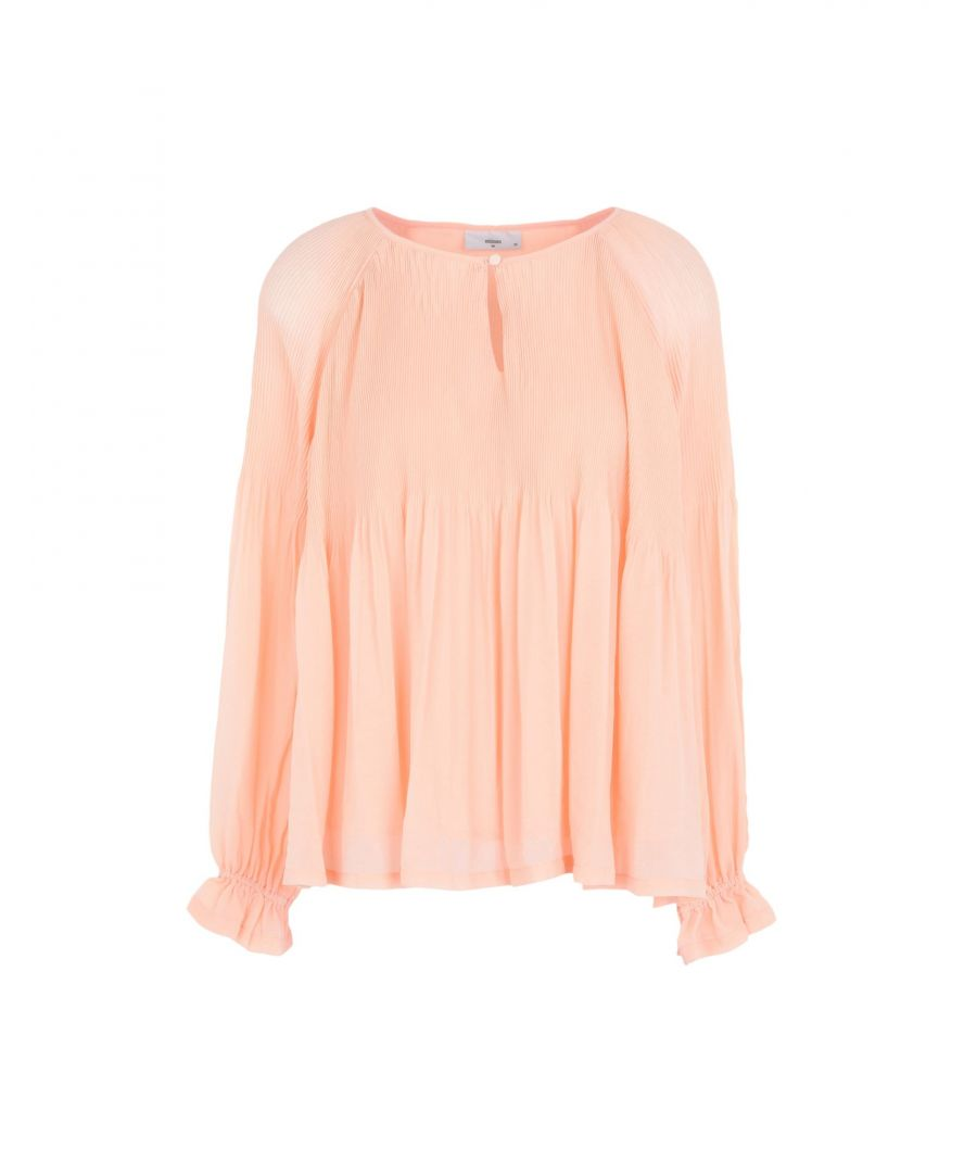 Image for Minimum Yellow Crepe Long Sleeve Blouse