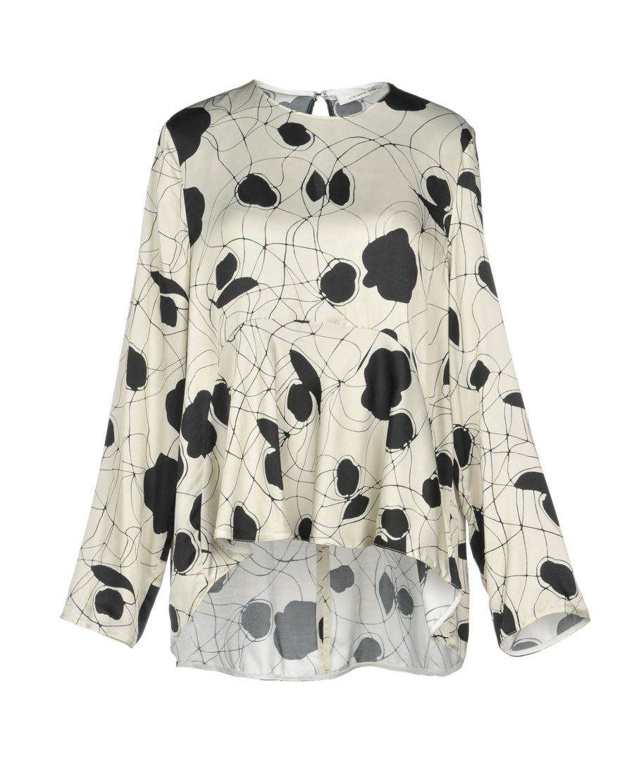Image for Liviana Conti Ivory Print Long Sleeve Blouse
