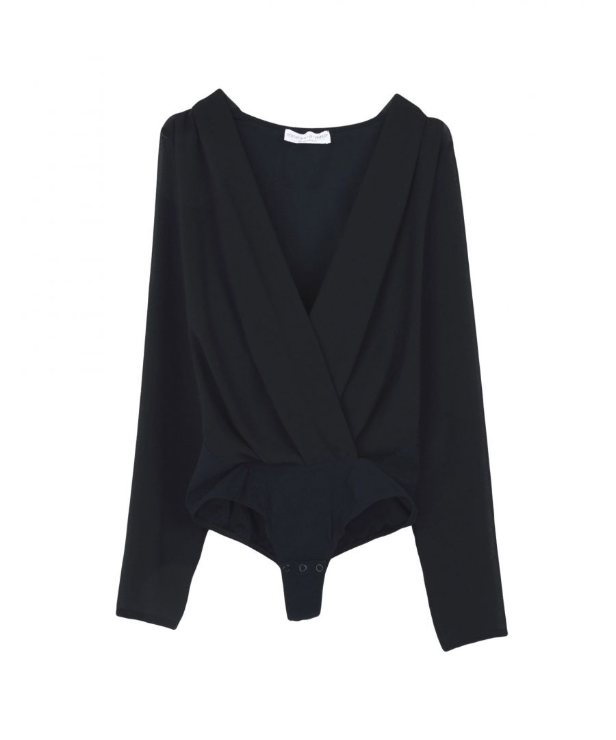 Image for Christies A Porter Black Shirt Bodysuit