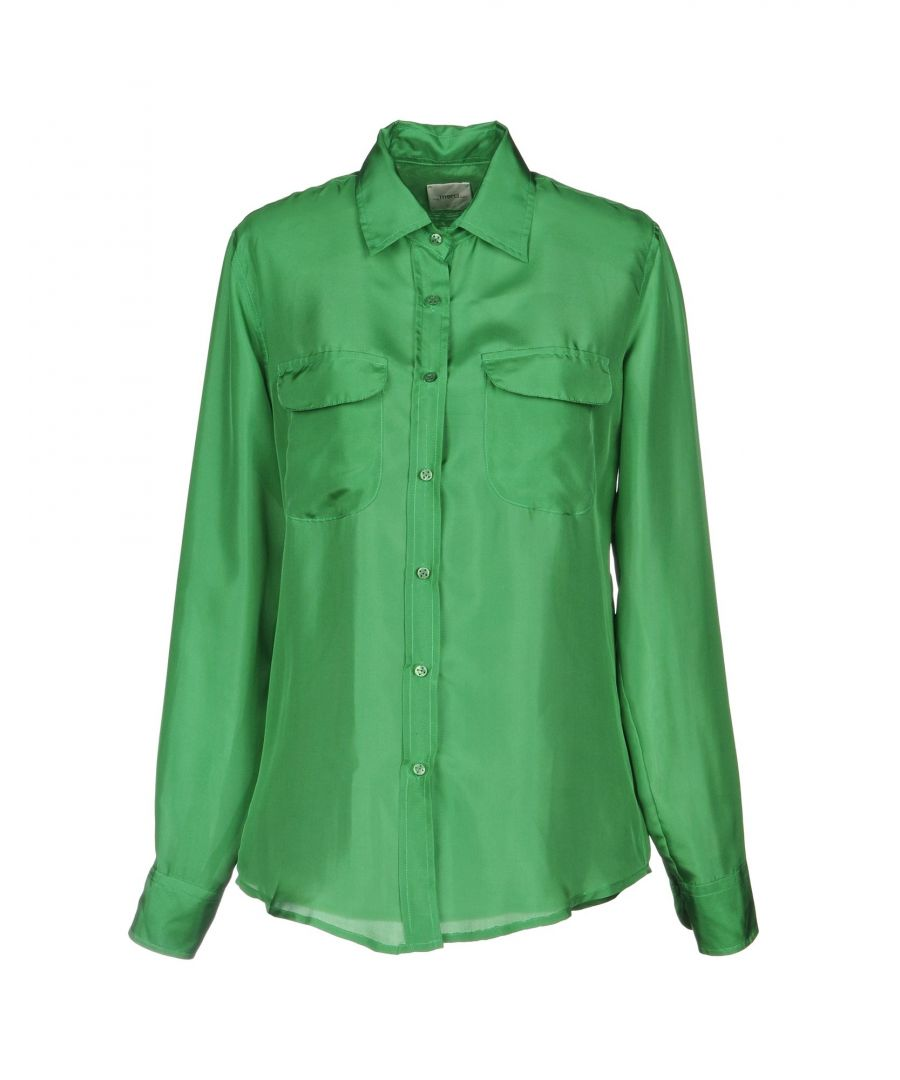 Image for Merci Green Silk Blouse