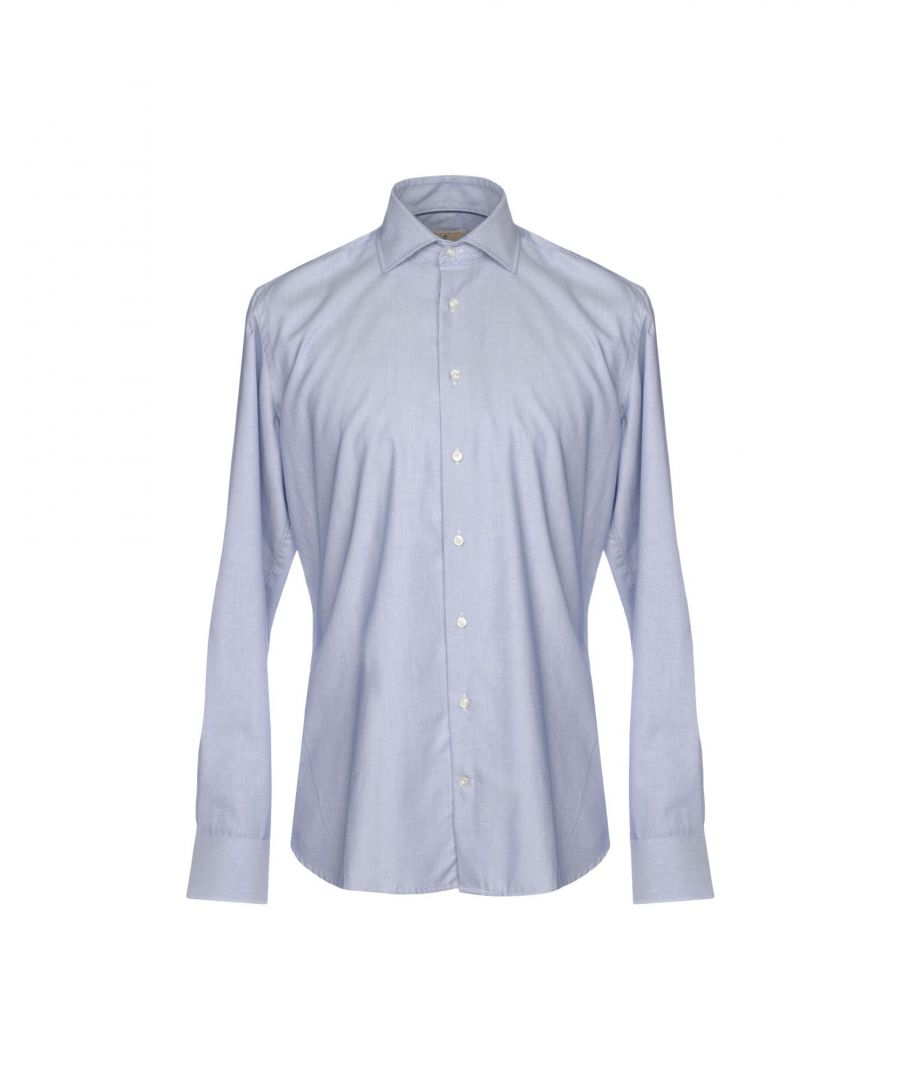 Image for Hackett London Dark Blue Cotton Slim Fit Shirt