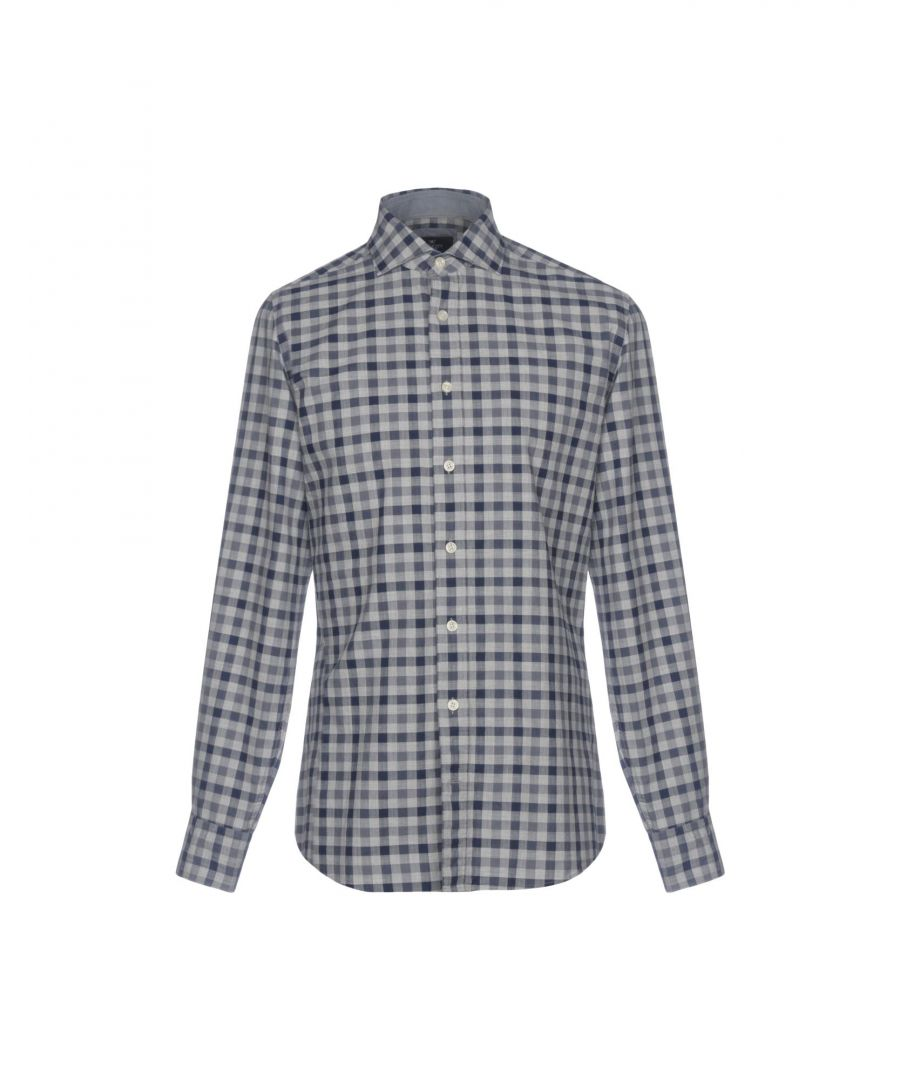 Image for Hackett London Grey Check Cotton Slim Fit Shirt