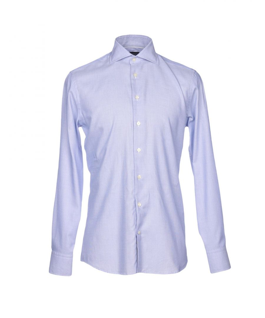 Image for Hackett London Blue Cotton Shirt