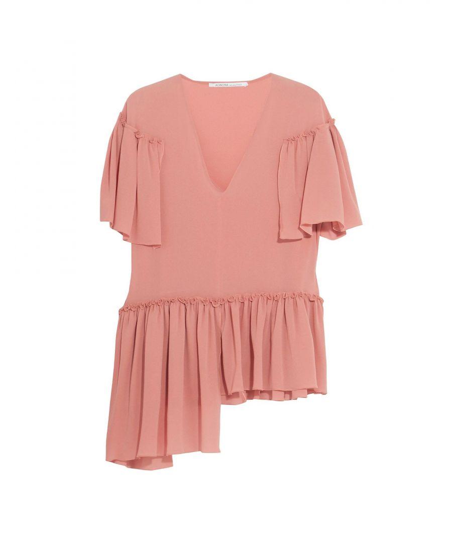Image for Agnona Pastel pink Silk Bluse