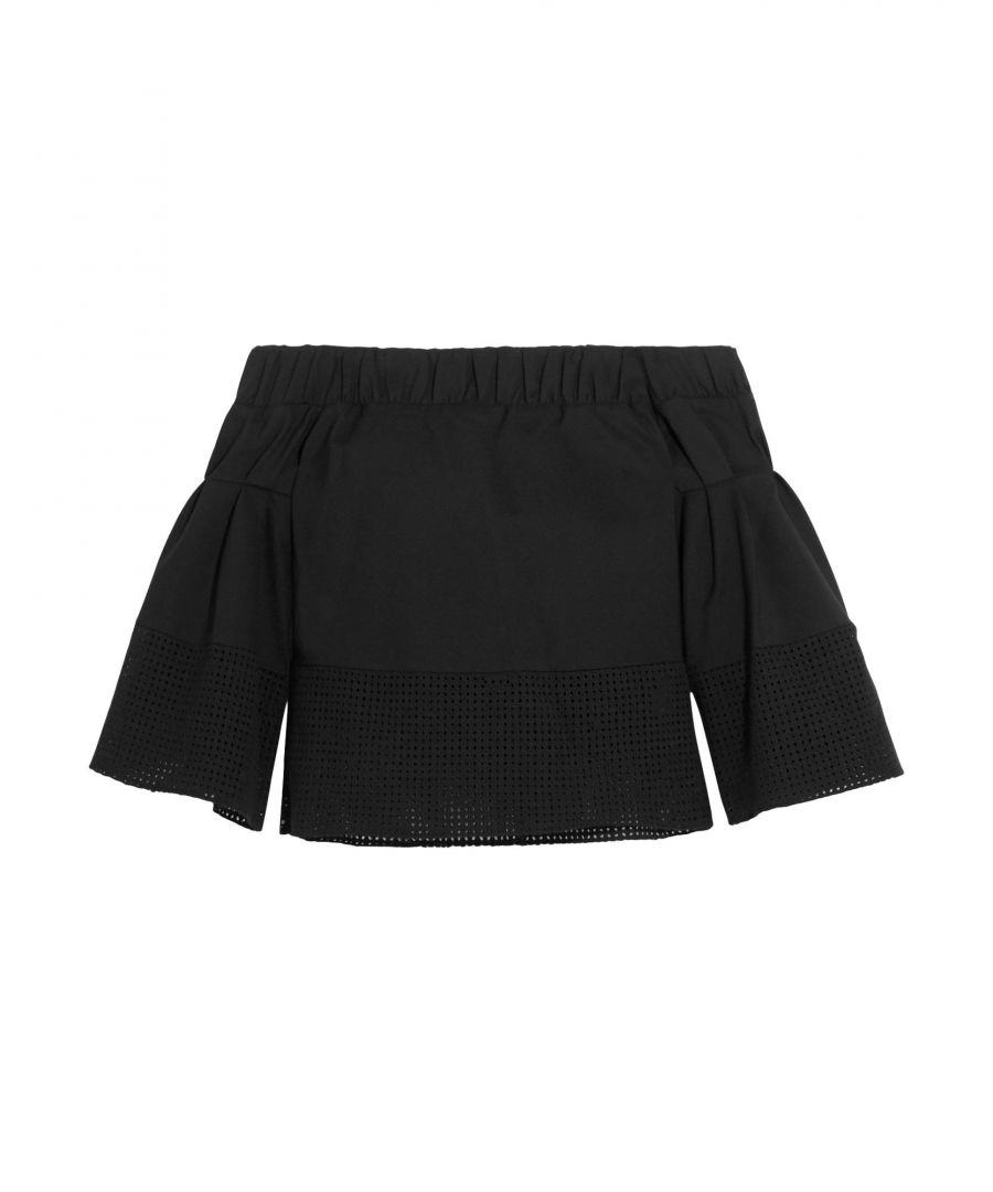 Image for Raoul Black Cotton Off The Shoulder Blouse