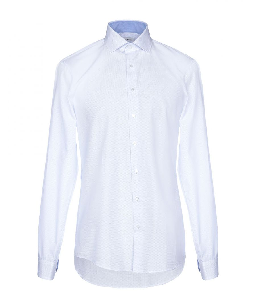 Image for Calvin Klein Sky Blue Cotton Shirt