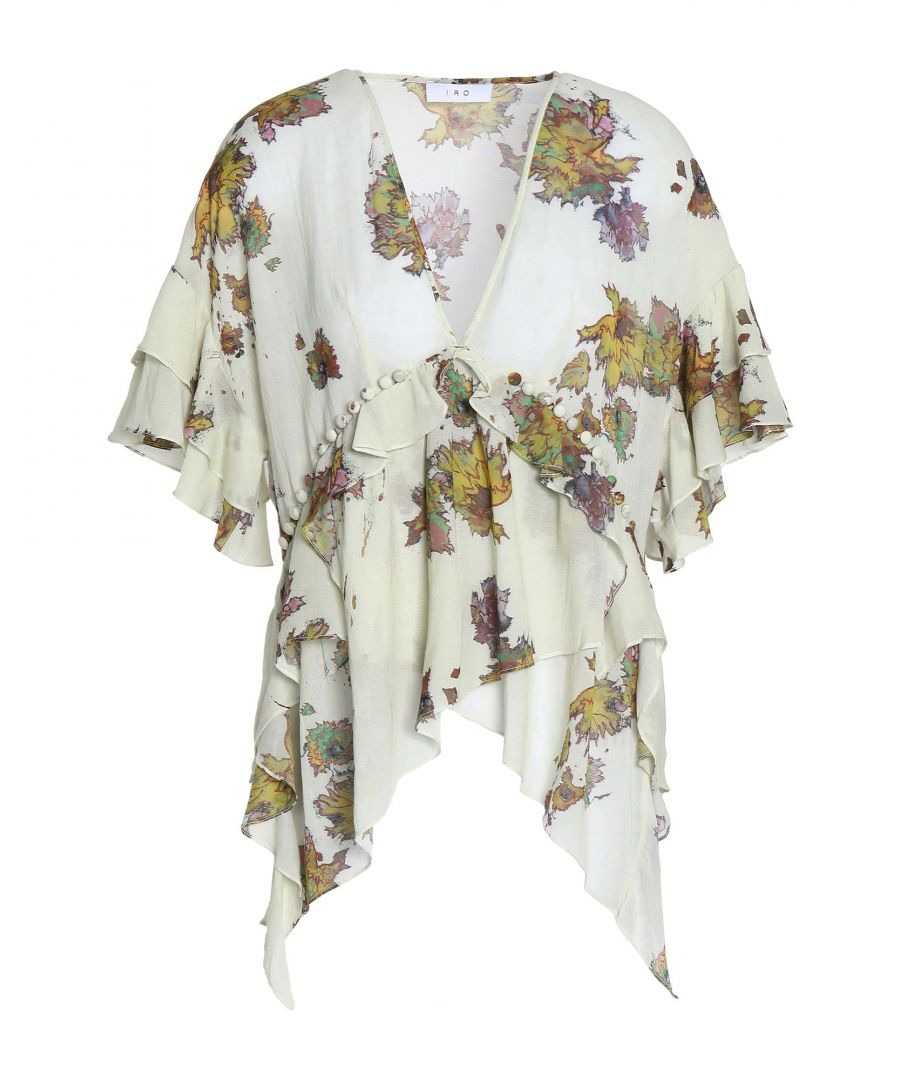 Image for Iro Beige Floral Print Blouse
