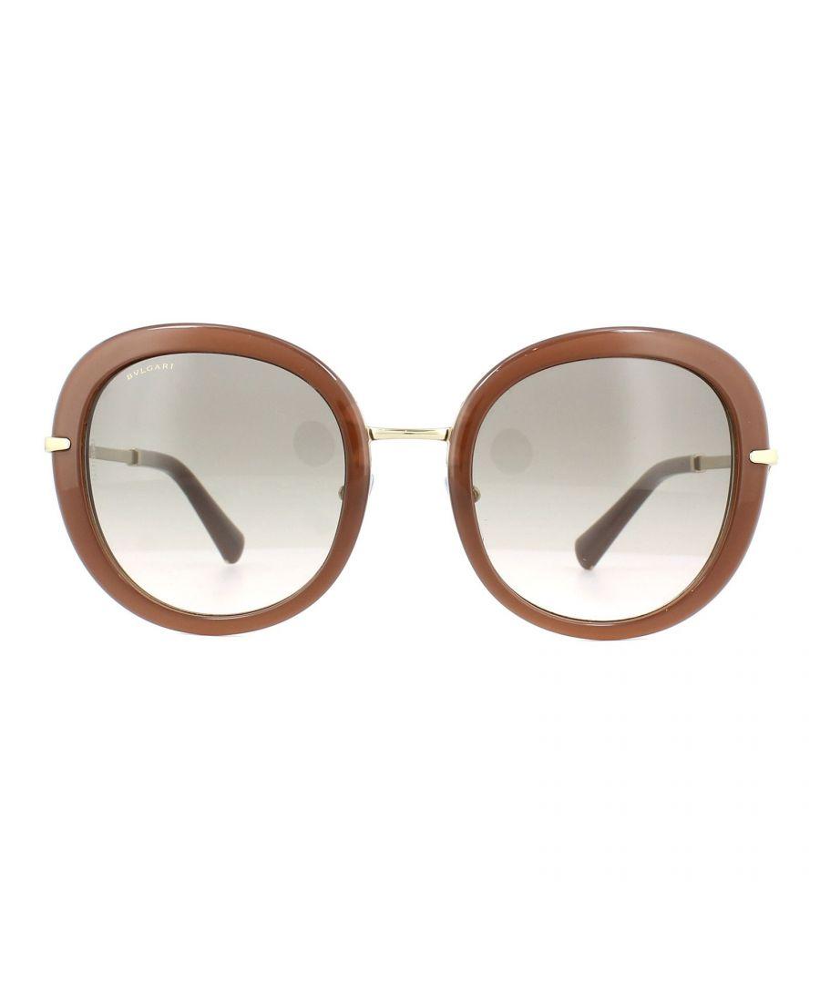 Image for Bvlgari Sunglasses 8196B 54313B Try-layer Beige Pink Grey Gradient