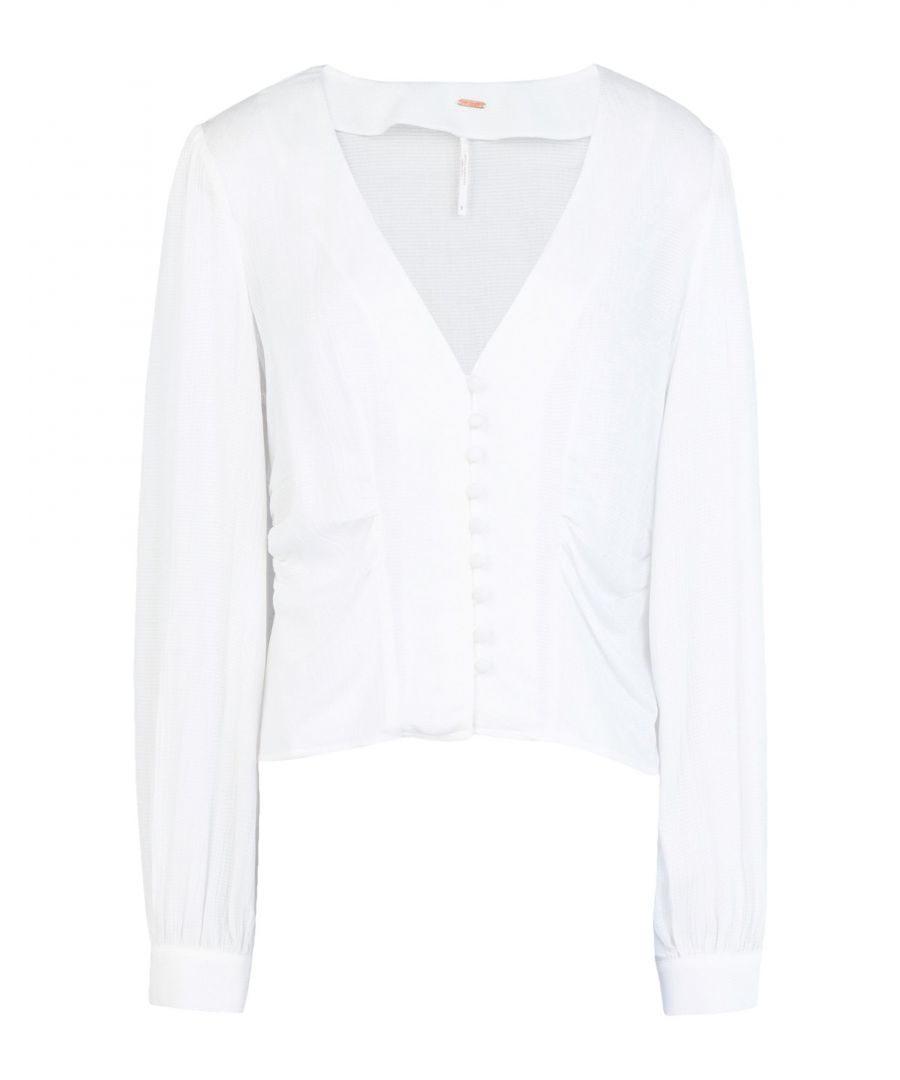 Image for Free People Ivory Frill Shirt