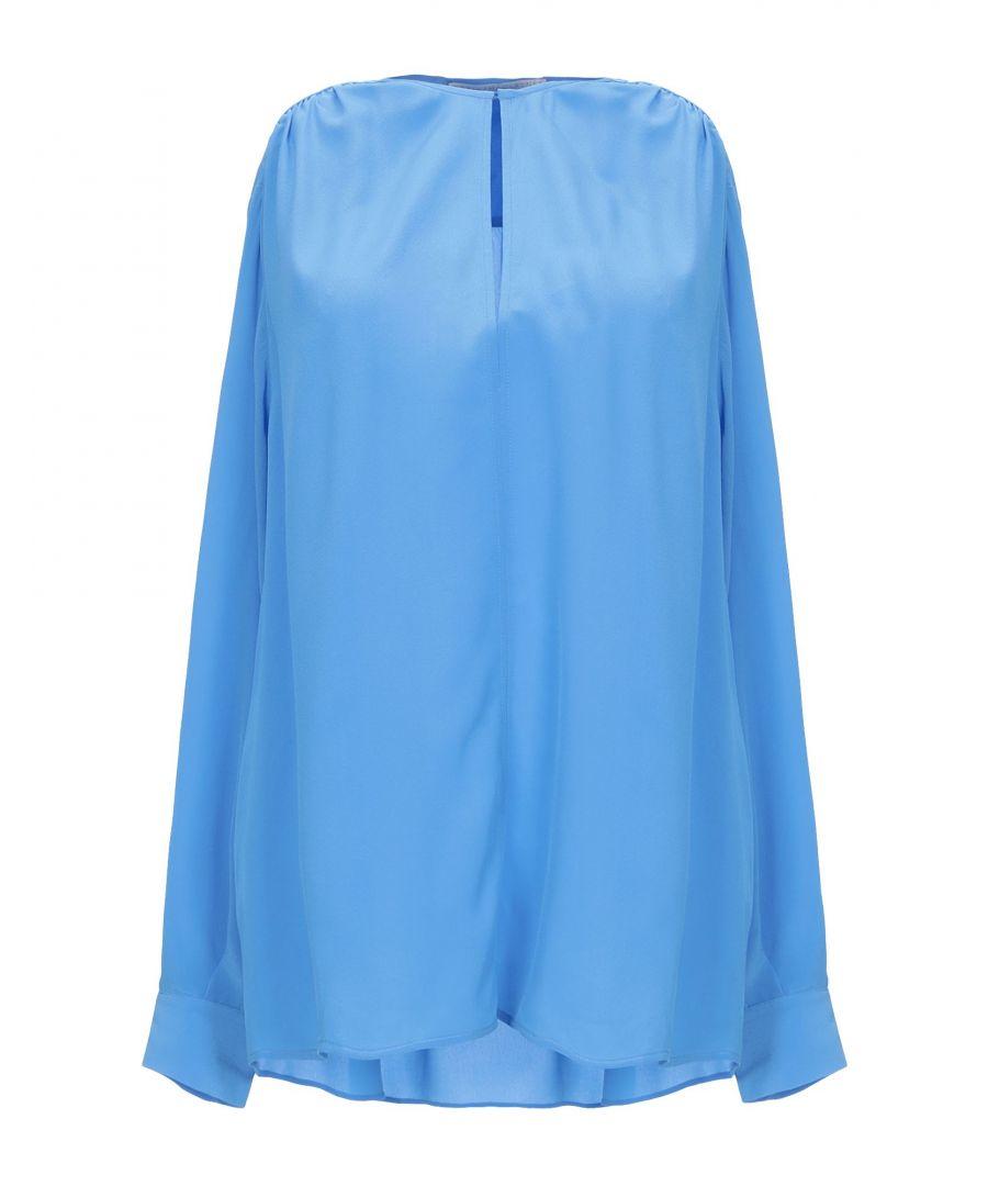 Image for SHIRTS Stella Mccartney Azure Woman Silk