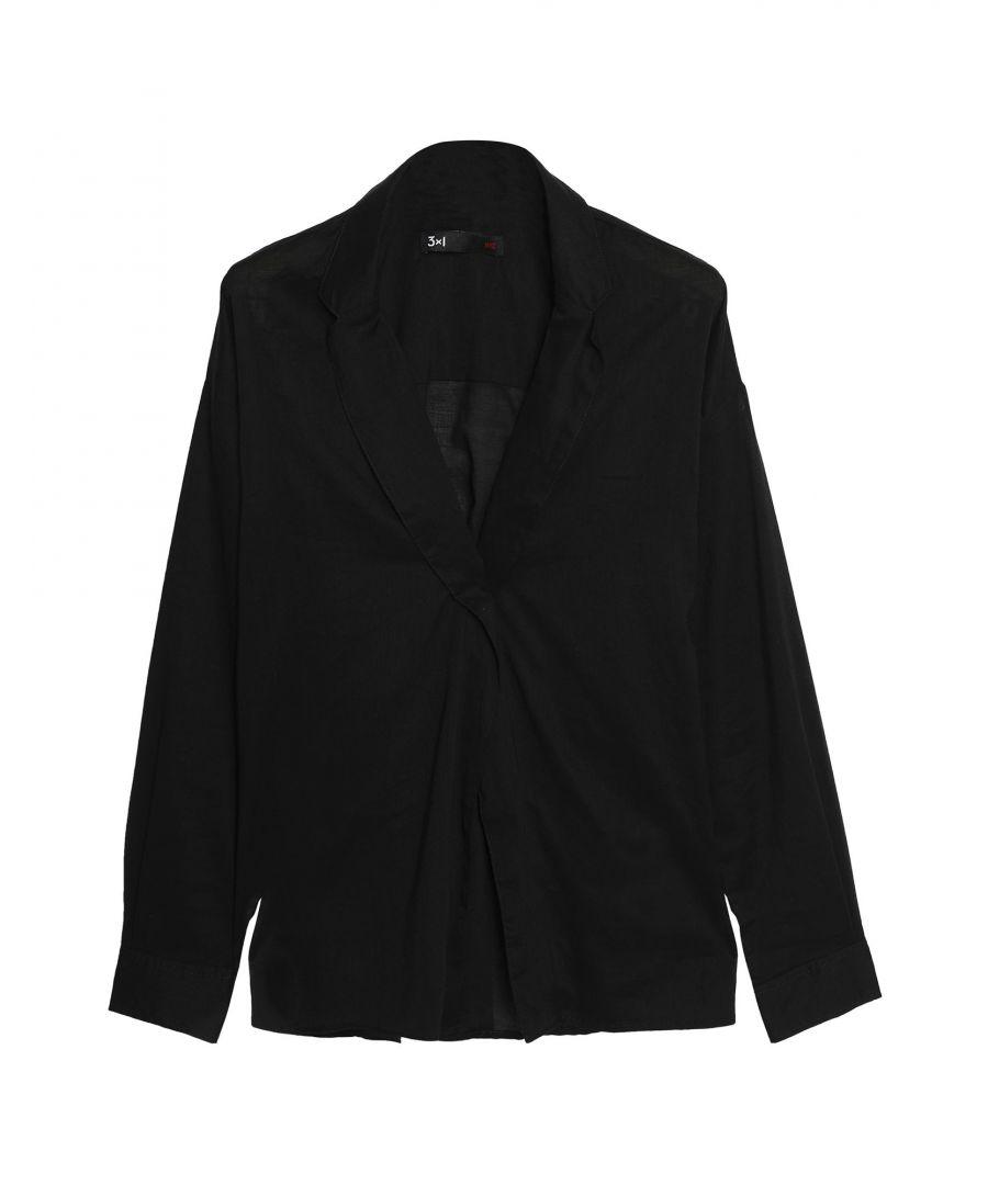 Image for 3X1 Black Cotton Blouse