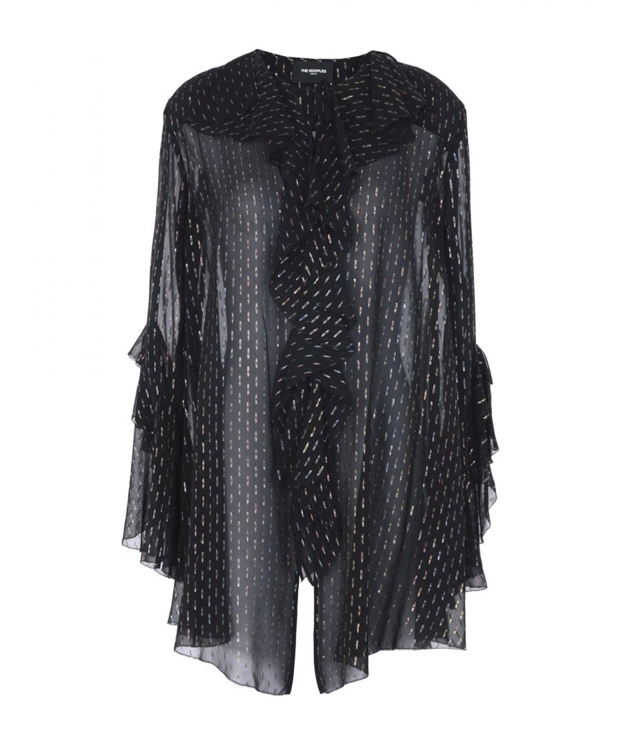 Image for The Kooples Black Silk Chiffon Blouse