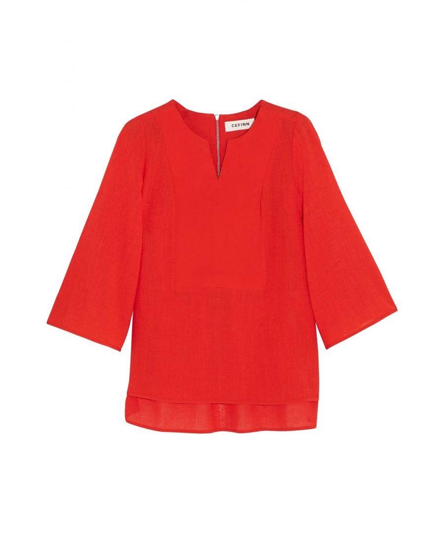 Image for Cefinn Red Blouse
