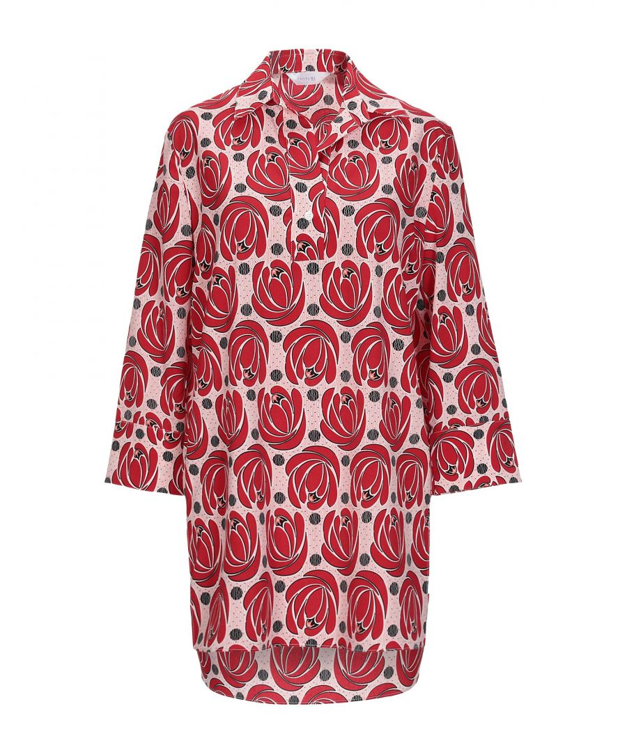 Image for Anonyme Designers Red Print Long Sleeve Blouse