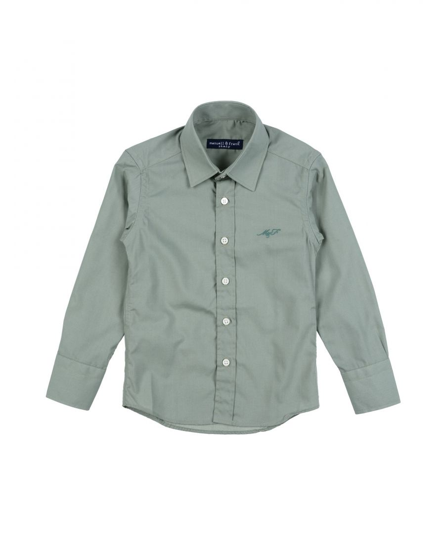 Image for SHIRTS Boy Manuell & Frank Military green Cotton