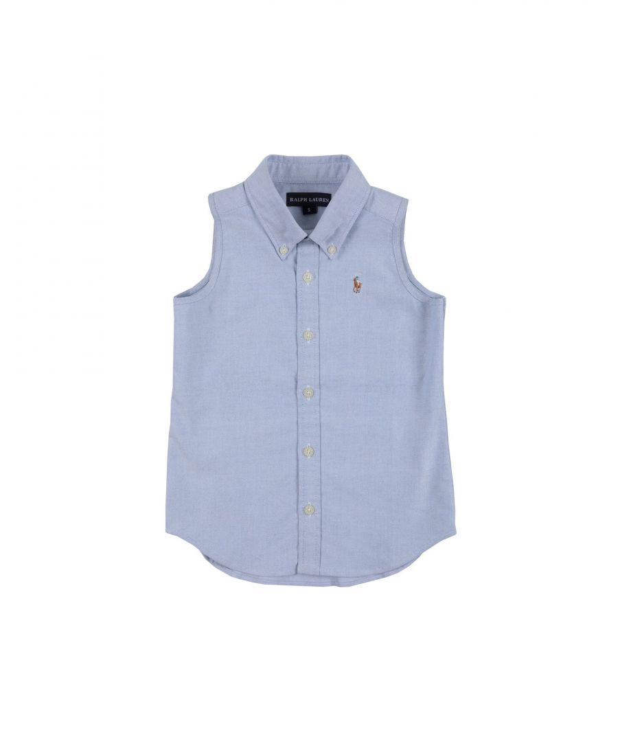 Image for SHIRTS Boy Ralph Lauren Sky blue Cotton